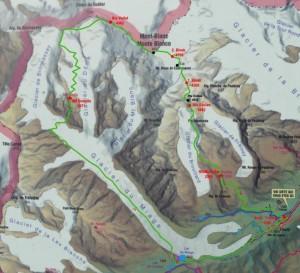 A bejárt útvonal