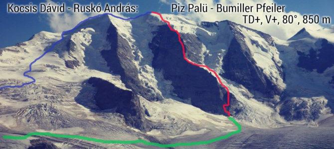 Piz Palü északi falas mászások 2.