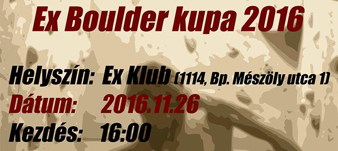 EX Boulder Kupa 2016