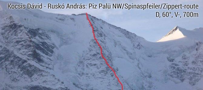 Piz Palü északi falas mászások